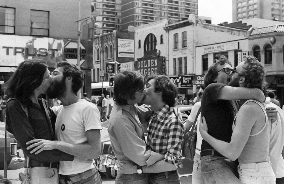Lot #4<br/>Kiss-in at Yonge & Bloor, north-east corner  ~  Gerald Hannon